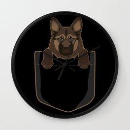 German Shepherd In Pocket Wall Clock