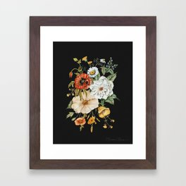 Wildflower Bouquet on Charcoal Framed Art Print