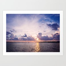 Purple Sunset Art Print