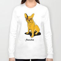 frenchie Long Sleeve T-shirts featuring Frenchie by andiroses