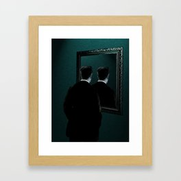 Into the mirror  Framed Art Print