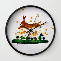 hare Wall Clocks featuring Hare by Condor