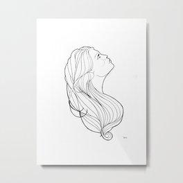 Noveau profile Metal Print