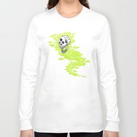 lv Long Sleeve T-shirts featuring Lv. 24 Skeletal Wisp by Creeps by Caleb
