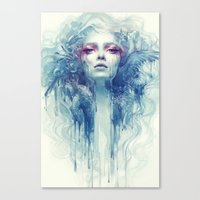 oil Canvas Prints featuring Oil by Anna Dittmann