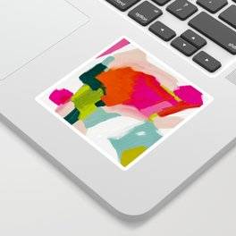 abstract pink art Sticker