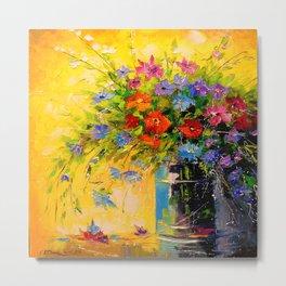 Bouquet of meadow flowers Metal Print