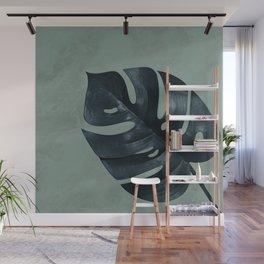 MONSTERA GREEN MARBLE Wall Mural