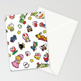 It's a really SUPER Mario pattern! Stationery Cards