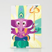 ganesh Stationery Cards featuring Ganesh by Penguinboy