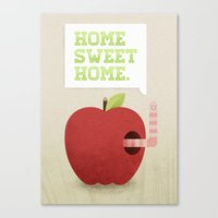 home sweet home Canvas Prints featuring Home Sweet Home by Chase Kunz