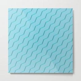 Blue Strokes Metal Print