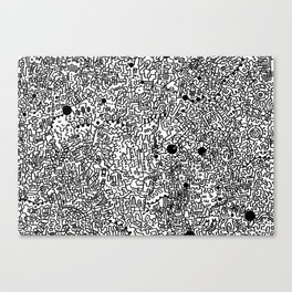 Cell Pattern Canvas Print