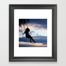 Her dreams are perfect Framed Art Print