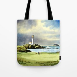 Turnberry Golf Course 10th Green Tote Bag