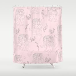 Wildflower Tiger Shower Curtain