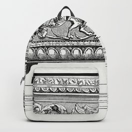 Carved Wooden Box (1862) from Gazette Des Beaux-Arts a French art review Backpack