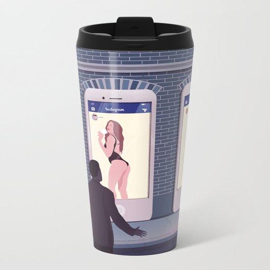 Very open Profiles Metal Travel Mug