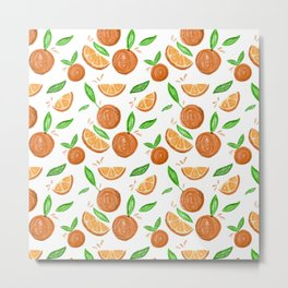 Happy Oranges Metal Print