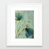 aelwen Framed Art Prints featuring heavenly blue by annemiek groenhout
