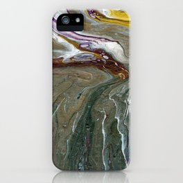 Fluid Acrylic XX - Original, acrylic, abstract painting iPhone Case