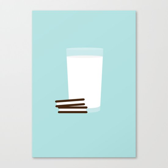#25 Milk and Cookies Canvas Print