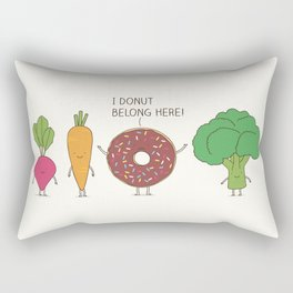 I donut  belong here! Rectangular Pillow