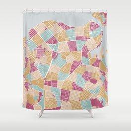 Habana map Shower Curtain