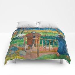 Bonjour Monsieur Gauguin (II) - Paul Gauguin (1889) Comforters