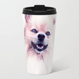 The Smiling Pomeranian Travel Mug