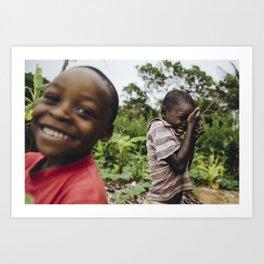 Shy Kids, Mozambique Art Print