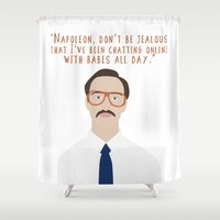 napoleon Shower Curtains featuring Napoleon Dynamite by Shop Sarah Alyson