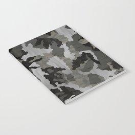 Modern Woodgrain Camouflage / Winter Birch Woodland Print Notebook