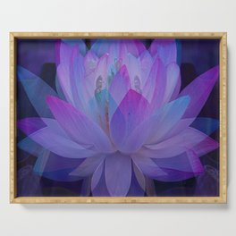 The Lotus in blue... Serving Tray