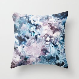 Color Commentary #2: Navy Blue & Purple (But Not Fuscia) [Annie Yim] Throw Pillow