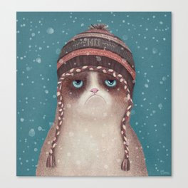 Under snow Canvas Print