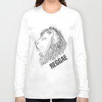reggae Long Sleeve T-shirts featuring Reggae Lions by Teo Designs