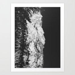 Sierras in Monochrome Art Print