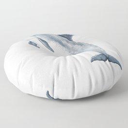 Bottlenose dolphin jump Floor Pillow
