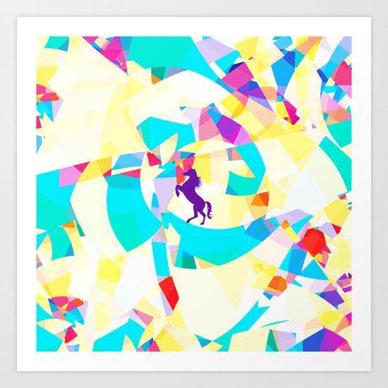 Unicorn World Art Print