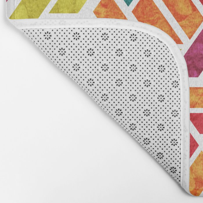 Seamless Colorful Geometric Pattern XII Bath Mat