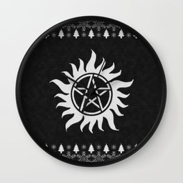 Supernatural Holiday Sweater Wall Clock