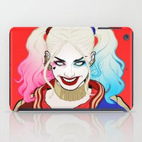 harley quinn iPad Cases featuring  ♦ ♠ HARLEY QUINN ♥ ♣ by Mothling