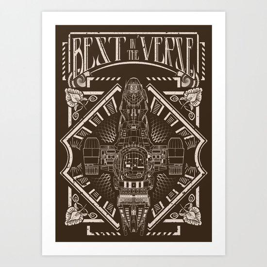Best in the 'Verse Art Print