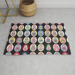 cute doll babushka matryoshka Rug