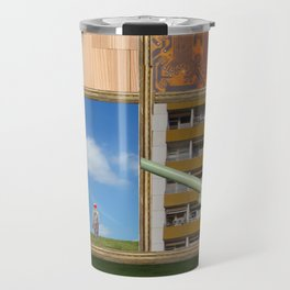 An der Schwelle zur Freiheit · a day with Magritte 2 Travel Mug