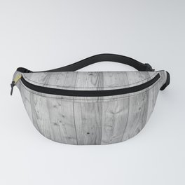 Wood Planks in black and white Fanny Pack