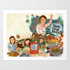 Music collage Art Print
