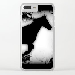 Western-look Galloping Horse Silhouette Clear iPhone Case