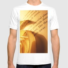 Words number 3 White Mens Fitted Tee MEDIUM